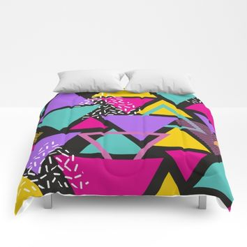 Memphis Triangles Comforters by General Design Studio