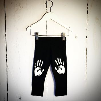 Hand Print Leggings - One Size Left (12-18m)
