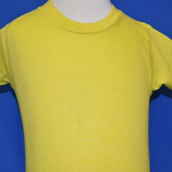 70s Yellow Solid Blank Baby t-shirt 12-18 Months