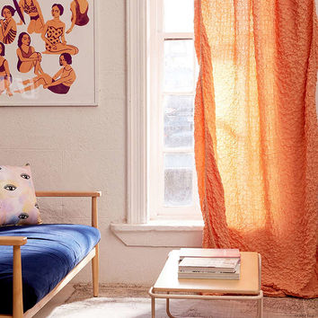 Zamora Popcorn Voile Window Curtain - Urban Outfitters