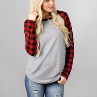 Buffalo Check Baseball Tee