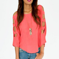 Kaylee Ladder Sleeve Top $30