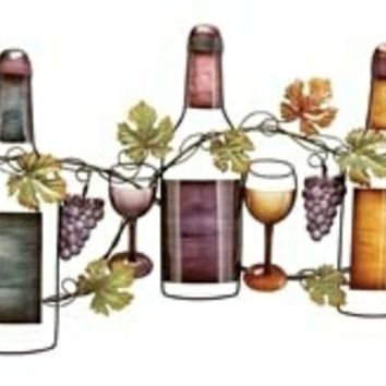 Wine Garden Metal wall Art Decor Sculpture