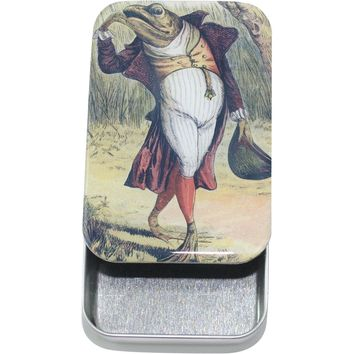 Vintage Gentleman Frog Card Case, Pill Box, Slider Tin, Mint Tin - Large