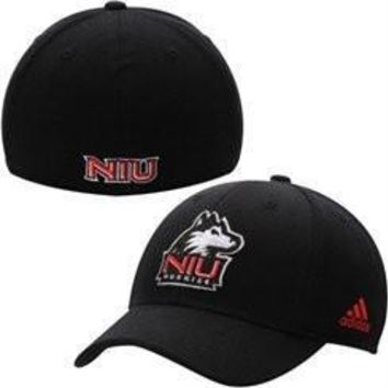 adidas Northern Illinois Huskies Black Basic Logo Flex Hat