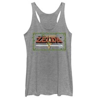 The Legend of Zelda Womens Tri Blend Pixel Logo Tank Top
