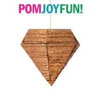 Diamond Piñata (smaller version) in Copper, Gold, Silver or Purple |  Pyramid Piñata | Octahedron Pinata | Wedding Piñata Baby Shower
