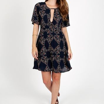 Daydreamer Paisley Print Dress