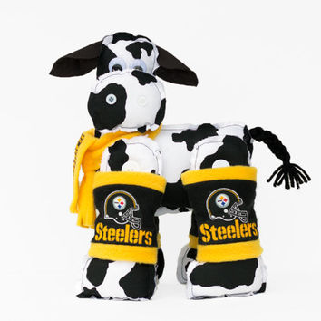 Steelers Cow - Stuffed NFL Pittsburgh Steelers Cow