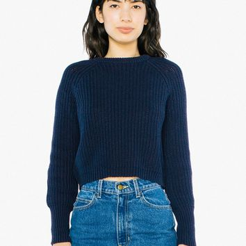 Cropped Fisherman Pullover   American Apparel