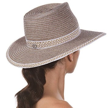 Eric Javits Women's Headwear Georgia Hat (Frost/White)