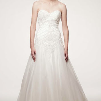 KCW1541 A-Line Wedding Dress with Train by Kari Chang Eternal