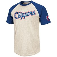 Fanzz Sports Apparel,Los Angeles Clippers NBA Heathered Raglan T-Shirt (Ivory/Blue) NFL, NBA, MLB Apparel, NFL, MLB, NBA Jerseys and Merchandise, NHL Shop | Fanzz
