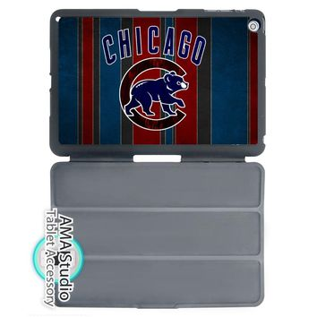 Chicago Cubs Baseball Club Folio Cover Case For Apple iPad Mini 1 2 3 4 Air Pro 9.7 10.5 12.9 2016 2017 a1822 New