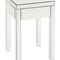 Office Star Reflections End Table Silver Mirror KD [REF09-SLV]