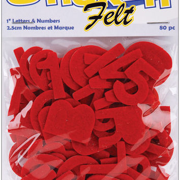 "stick it felt 1"" numbers & letters -r"