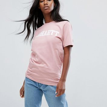 Carhartt WIP Oversized T-Shirt With College Logo at asos.com