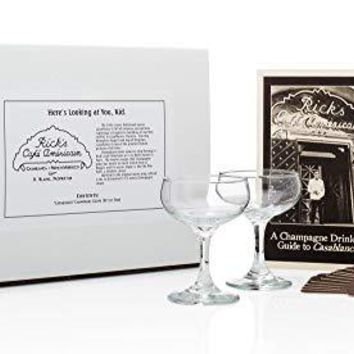 """""""Casablanca"""" Champagne Coupe Set (from Rick's Cafe)"""