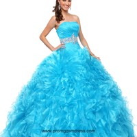 Ball Gown Strapless Aqua Blue Beading Quinceanera Dress with Floor-length Style KSCT012,2014 Pretty Quinceanera Dresses