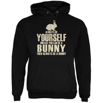DCCKJY1 Always Be Yourself Bunny Black Adult Hoodie