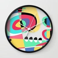 Naive VII Wall Clock by Susana Paz | Society6