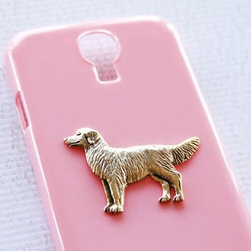 Retriever Samsung S4 Shiny Pink and Gold Hard Shell Plastic Cell Phone Protector iPhone 6