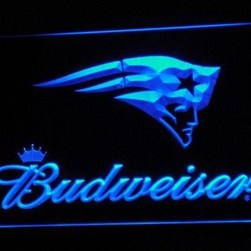 b298 New England Patriots Budweiser LED Neon Sign with On/Off Switch 7 Colors 4 Sizes to choose