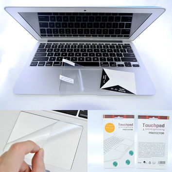 Laptop Accessories Keyboard Touchpad Transparent Film Protective Sticker For Apple Mac Macbook Air 11 12 Pro Retina 13 15 skins