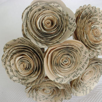Shop book paper flower bouquet on wanelo 6 bouquets group spiral book page paper flower rose bouquets fo mightylinksfo