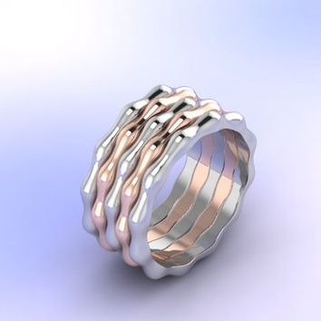 colorful wave ring