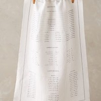 Cook's Measurements Dish Towel by Anthropologie Ivory One Size Kitchen