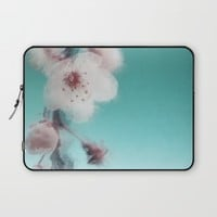 Cherry Blossom Abstract Laptop Sleeve by ALLY COXON | Society6