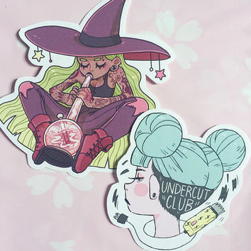 Stoner Witch x Undercut Club (Stickers)