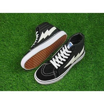 Vans REVENGE X STORM Sk-Hi Black White High Top Women Sneaker Flats Shoes Canvas Sport Shoes