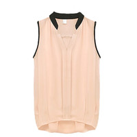 Chiffon V-neck Sleeveless Top
