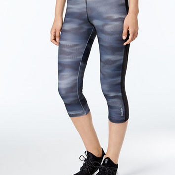 Reebok Speedwick Printed Capri Leggings - Women - Macy's