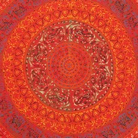 Red Queen Tapestry Bedspread Mandala Elephant Wall Hanging