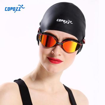 776a07c6c Silicone Waterproof Swimming Caps for Men Women Long Hair