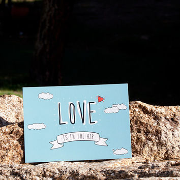 "Postcard ""Love is in the Air"" love card"