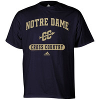 adidas Notre Dame Fighting Irish Sports Arch Cross Country T-Shirt - Navy Blue