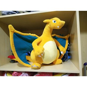 30-50cm Charizard plush toys kid doll for children gift soft cute anime pikachu Childhood memories Dragon toy