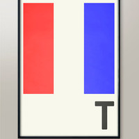 Navy Flag Letters, Letter T, Naval Flags, Naval Signal, Nautical Art, Nautical Sign, Navy Sign, Martime Codes, Maritime Flag, Home Art