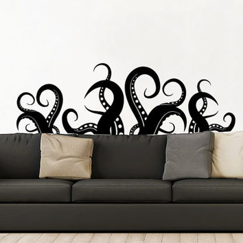 bathroom wall vinyl best octopus bathroom products on wanelo