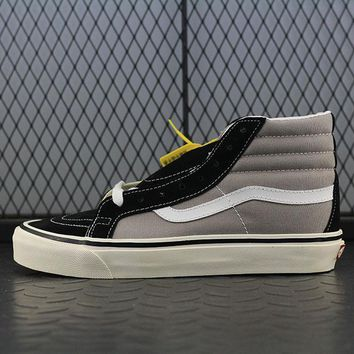 Vans SK8 Hi 38 DX Fashion Canvas Flats Sneakers Sport Shoes Grey
