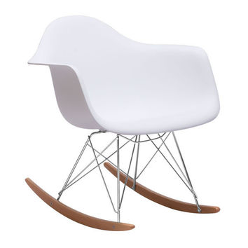 Rocket Chair White Chromed Steel