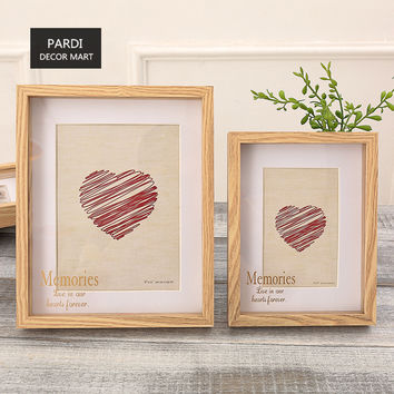 8inch, 10inch Heart and Love Two piece set wood photo frame home decoration 1set/lot