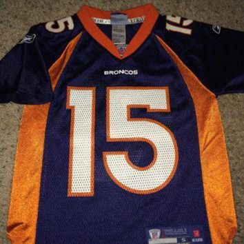 PEAPYD9 Sale!! Reebok DENVER BRONCOS Football Jersey #15 Tim Tebow NFL Shirt