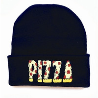 Pizza Cuffed Knit Beanie