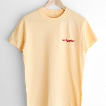 Babygirl Tee - Yellow