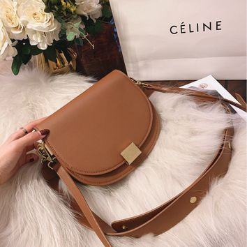 13d4077eed3d Céline Women s Leather shoulder bag